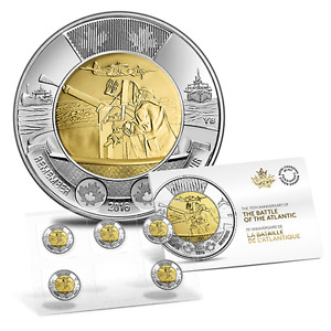Canada 2016 Battle of the Atlantic $2 Coin Five-Pack