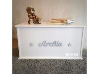 Personalised Toy Box - Cotton White