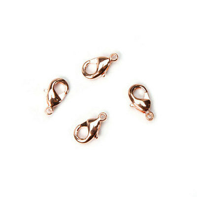 (Rose Gold Lobster Clasps, 10mm(14mm including the jump ring) - 4 pieces)