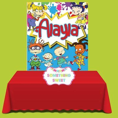 Rugrats Party Backdrop, Rugrats Birthday - Rugrats Decorations