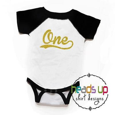 One Birthday Shirt Girl First Bday Baby Girl 1 Tee Gold Glitter Cake Smash - Baby First Bday