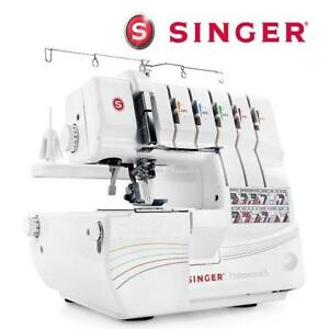 OB SINGER 5 THREAD SERGER OVERLOCK 14T968DC 190014800 SINGER PROFESSIONAL SEWING MACHINE WHITE OPEN BOX