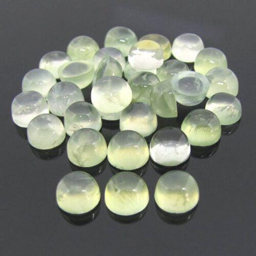 Wholesale Lot Natural Prehnite 8X8 mm Round Cabochon Loose Gemstone MN-27