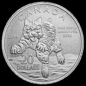 Silver Coin - Bobcat from Canadian Mint