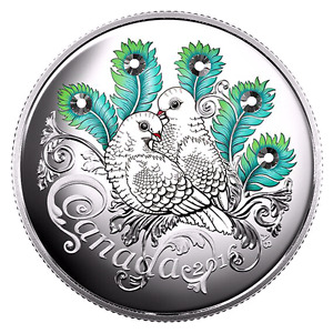 "2016 Celebration of Love SILVER COIN with ""SWAROVSKI""Crystals!!!"