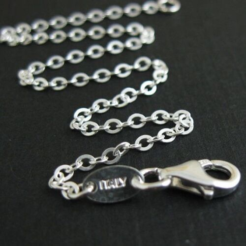 Sterling Silver Necklace - 2.3mm Strong Flat Cable Chain - A