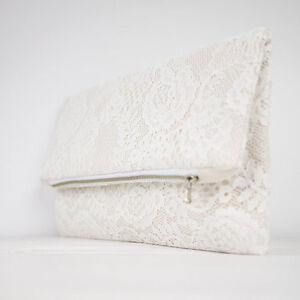 French Lace Bridal Clutch