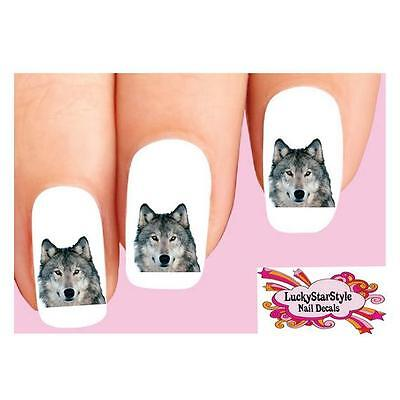 Waterslide Nail Decals  Set of 20 - Grey Wolf](Wolf Nails)