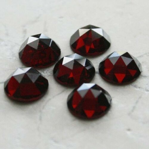 Lot of 5x5mm Round Rose Cut AAA Natural Red Garnet Loose Calibrated Gemstone