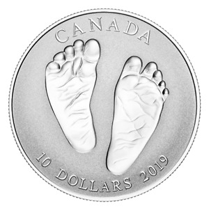 2019 Canada $10 Welcome to the World Baby Feet Fine Silver