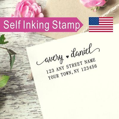 (Custom Self-inking Return Address Stamp Wedding Gift Housewarming Gift AS065)