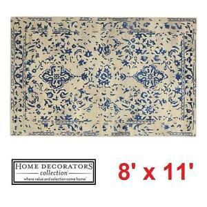 NEW* HDC CASTILLO 8' x 11' AREA RUG - 124983564 - HOME DECORATORS COLLECTION  - BLUE RUGS CARPET CARPETS FLOORING DEC...