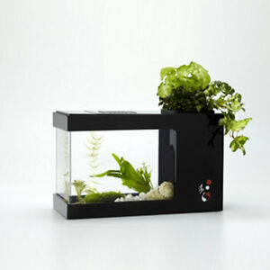 Aquarium Planter + LED, Fish Tank, Plant Pot | PERFECT for desk