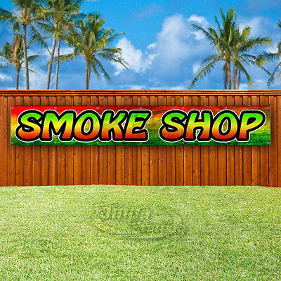 Smoke Shop Advertising Vinyl Banner Flag Sign Large Sizes Usa Vape Weed Rostra