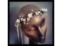 HIGH QUALITY Beach Party Crown Bride Wedding Headband Floral Headdress
