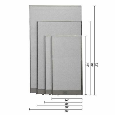 GOF Office Partition Wall Room Divider Panel Cubicle 4 feet, 5 feet, 6 feet Tall Office Cubicle Divider
