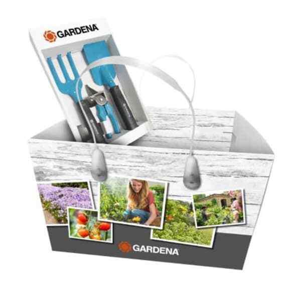 Gardena Kleingeräte-Set inkl. Blumengabel Blumenkelle Gartenschere Nr.08968-30