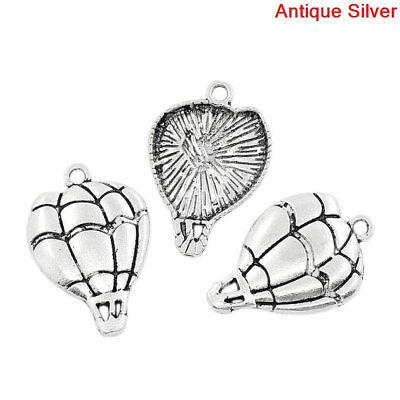 8 pcs HOT AIR BALLOON Tibet silver Charms Pendants DIY Jewellery Making crafts - Diy Hot Air Balloon