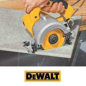 """NEW DEWALT WET DRY MASONRY SAW - 115386303 - 4 3/8"""" COMPACT CIRCULAR SAWS POWER HAND TOOL TILE STONE CONCRETE CUTTER ..."""