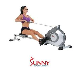 NEW SHF MAGNETIC ROWING MACHINE SUNNY HEALTH FITNESS - LARGE LCD - ROWER ROWERS EXERCISE EQUIPMENT WORKOUT GYM