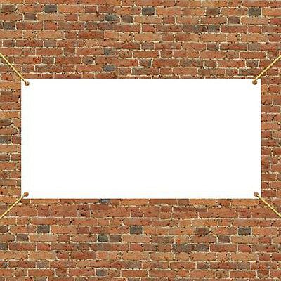3 X 1 Blank 13oz Vinyl Outdoor Indoor Blank White Banner