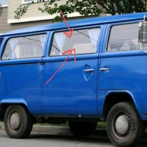 Volkswagen van centre window