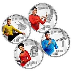 Canada Mint Star Trek 1/2 Ounce Pure Silver Coin Set