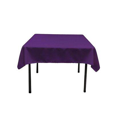 Purple Table Cloth ( Square Tablecloth - 60 x 60 Inch - Purple Square Table Cloth for Square)