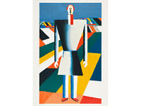 KAZIMIR MALEVICH - 'Peasant in a field' - stunning large original lithograph - hand numbered - c1973