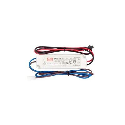 Mean Well Lpv-20-24 Ac To Dc Power Supply Enclosed Led Single Output 24 Volts 0.