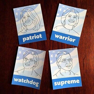 Nasty Women  Stickers Ruth Bader Ginsburg  Hillary  Michelle Obama  Liz Warren