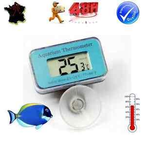 Thermometre digital immergeable a ventouse pour aquarium etanche poisson ebay - Poisson a ventouse ...