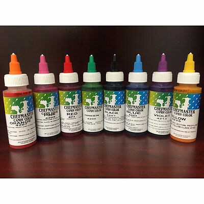 Chefmaster, Liquid Candy Color, 2 ounce. Asst Colors Available NEW Free Shipping](Color Candy)