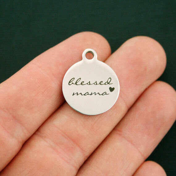 Blessed Mama Stainless Steel Charms - BFS2736