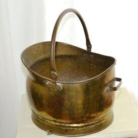 Brass Coal Wood Log Burner Fireplace Bucket (Scuttle)