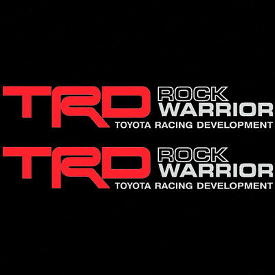 PAIR TOYOTA TRD Rock Warrior Vinyl Truck Replacement Graphic Decal Stickers