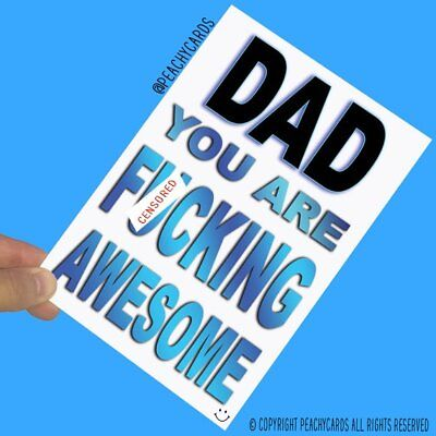 Funny Birthday Cards For Dad Greeting Cards Father's Day Christmas Card PC631 ()