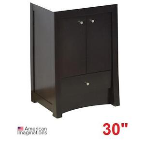 "NEW* AI ELITE 30"" VANITY CABINET - 119350087 - AMERICAN IMAGINATIONS WALNUT CABINETS - BATH BATHROOM FURNITURE DECOR ..."