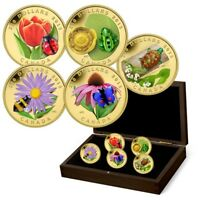 Flora and Fauna 5-Coin Set - Pure Gold Coins (2015)