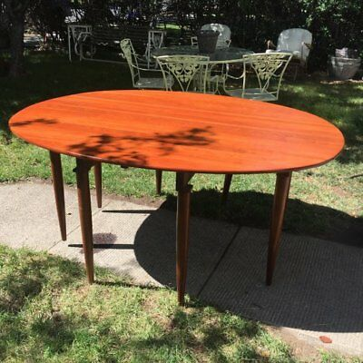 RARE CONSIDER H WILLETT TRANSITIONAL CHERRY DROP LEAF GATE LEG TABLE  for sale  Bend
