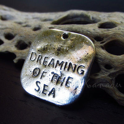 5PCs Dreaming Of The Sea Wholesale Antiqued Silver Plated Pendant Charms C8907