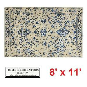NEW* HDC CASTILLO 8' x 11' AREA RUG - 124974310 - HOME DECORATORS COLLECTION  - BLUE RUGS CARPET CARPETS FLOORING DEC...