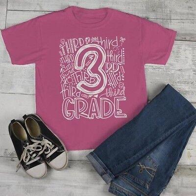 Kids Cute 3rd Grade T Shirt Typography Cool Tee Boy's Girl's Grade 3 Third Back ](Back Boys)