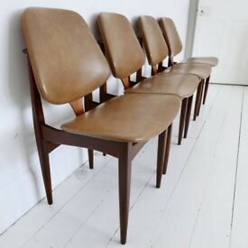 4 x Elliotts Of Newbury EON Mid Century Modern Teak Dining Chairs
