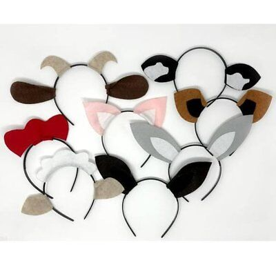 Barnyard farm animals theme ears headband birthday party favors supplies costume](Farm Birthday Theme)