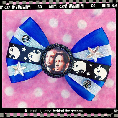X-Files Mulder Scully Alien Sci Fi Hair Bow for sale  Shipping to Canada