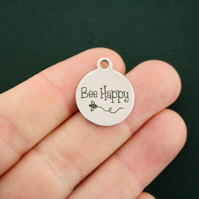 Bee Happy Stainless Steel Charms - Exclusive Line - BFS532 NEW2](Bee Charms)