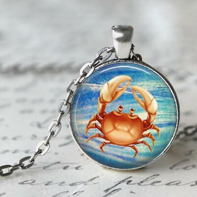 Crabby - Crab Pendant, Jewelry Necklace-Ocean, Beach, Water, -