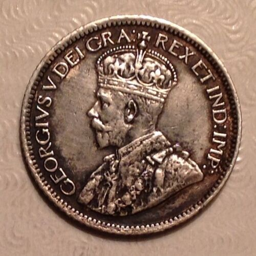 1913 Canada George V Ten 10 Cents