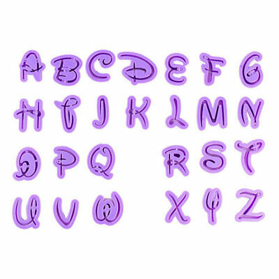 Disney Font Letter / Alphabet Cutter Cutouts (Cookie Cutter Set) From Bakell ()